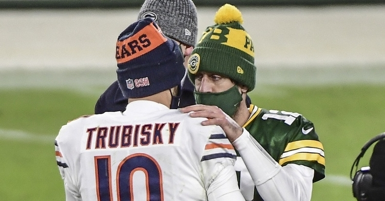 Rodgers outplayed Trubisky on Sunday Night Football (Benny Sieu - USA Today Sports)