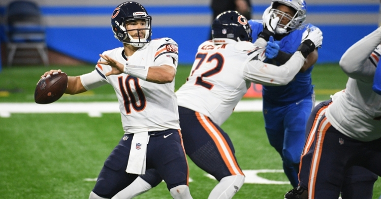 Chicago Bears quarterback Mitchell Trubisky commandeered three touchdown drives in the fourth quarter. (Credit: Tim Fuller-USA TODAY Sports)