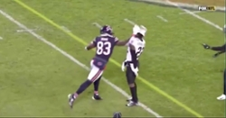 WATCH: Bears wideout loses his cool, gets ejected for punching defender in helmet