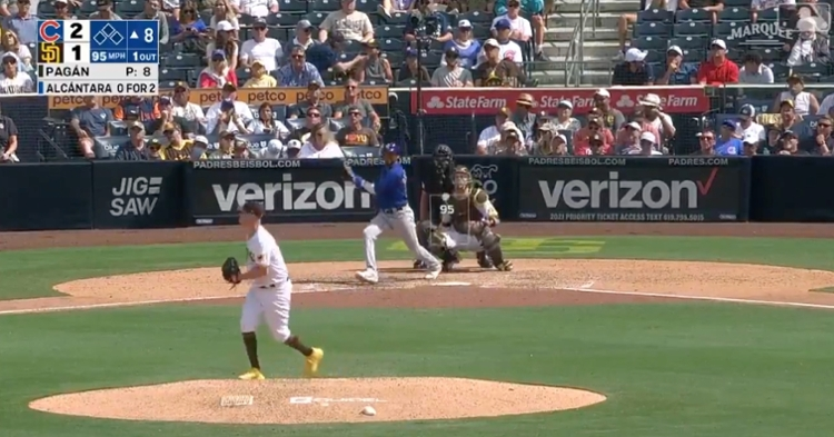 Sergio Alcantara got underneath a fastball and launched it out to right field for his first home run as a Cub.