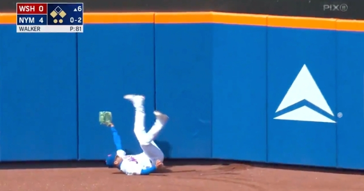 Now a Met, former Cubs center fielder Albert Almora Jr. is still making highlight-worthy catches in the outfield.