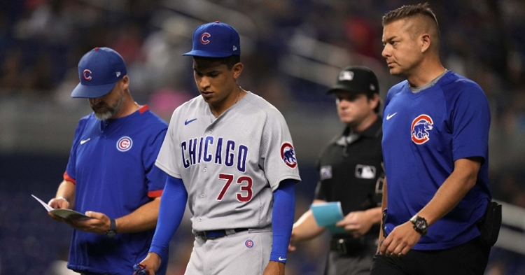 Alzolay had a rough outing on Friday night (Jasen Vinlove - USA Today Sports)