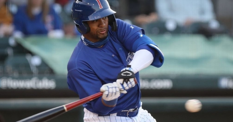 Avelino had an impressive game with four hits (Photo courtesy: Iowa Cubs)