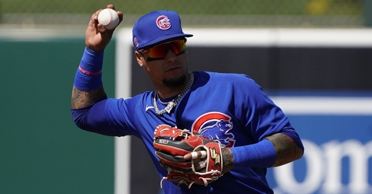 Javy Baez makes the play against the A's (Rick Scuteri - USA Today Sports)