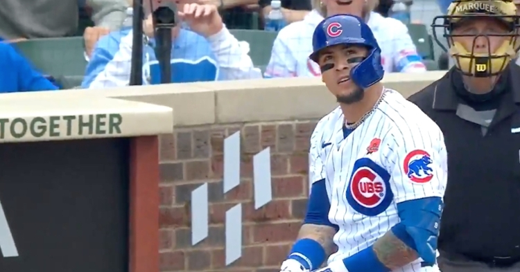 Cubs shortstop Javier Baez's powerful two-run bomb increased his 2021 RBI total to 35.