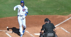 Javy Baez leaves game after being hit-by-pitch