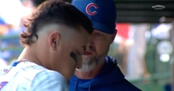 WATCH: Javier Baez removed from game after forgetting how many outs there are