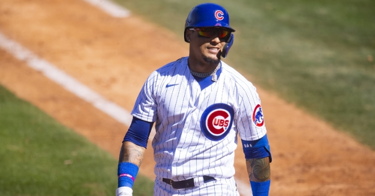 Javier Baez may consider extending his Cubs contract prior to this month's trade deadline. (Credit: Mark J. Rebilas-USA TODAY Sports)