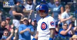 WATCH: Javier Baez steals two bases in same inning, scores on bloop single