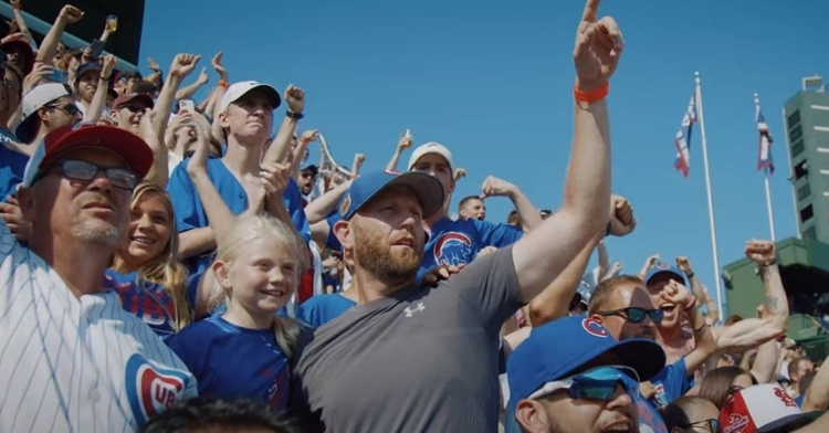 The Cubs released a heartfelt video showing the return of fans to Wrigley Field
