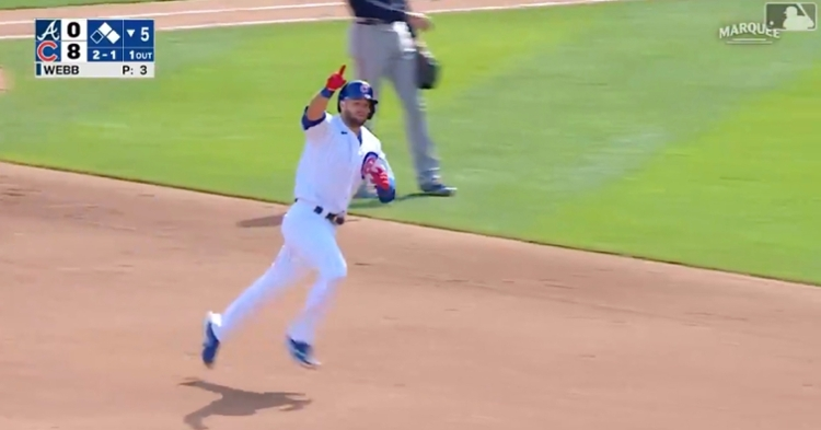 David Bote's second home run of the season served as the Cubs' fifth home run of the game.