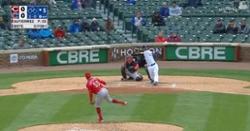 WATCH: David Bote breaks scoreless tie with hard-hit home run