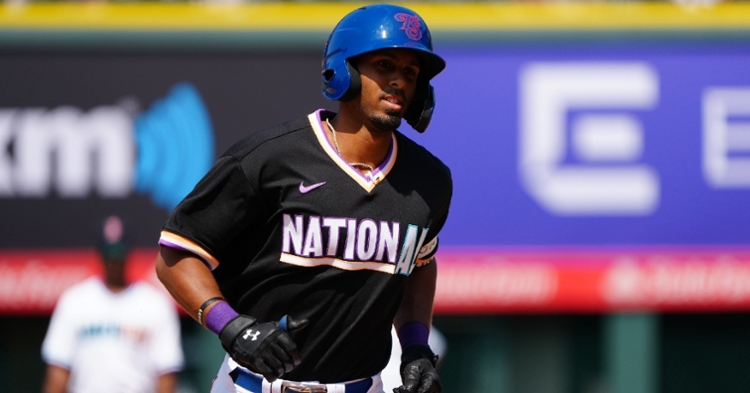 Davis is the Cubs top hitting prospect (Ron Chenoy - USA Today Sports)