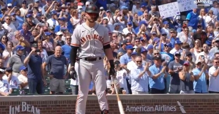 Fans at Wrigley gave Kris Bryant a warm embrace in his return