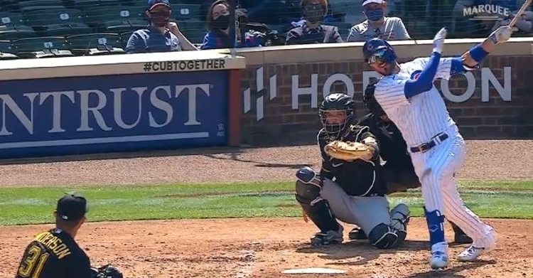 WATCH: Kris Bryant crushes his first homer of season