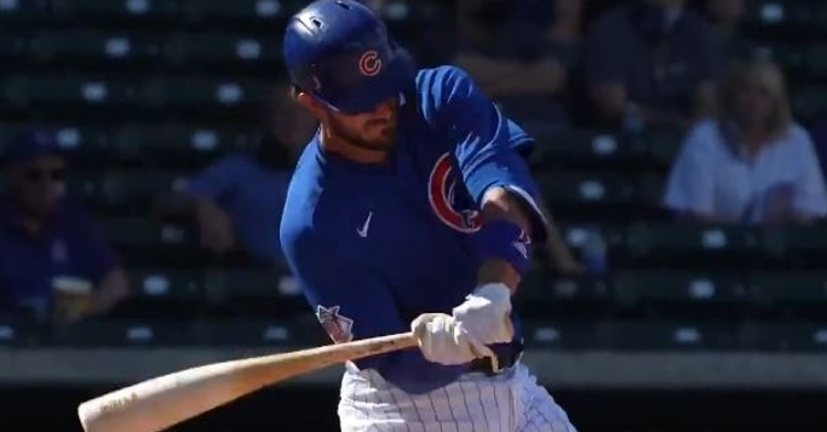 Kris Bryant connected for his first homer during the Spring on Saturday