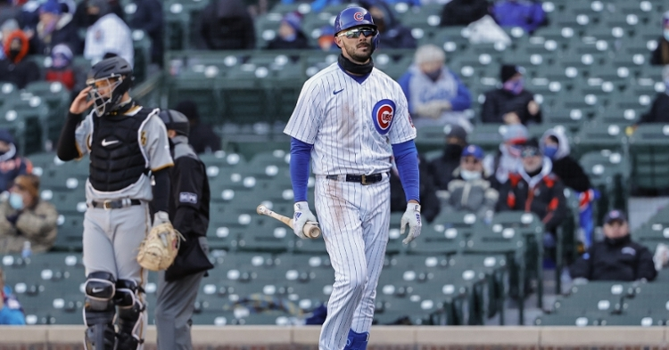 The Cubs were mediocre at the dish to open the 2021 season. (Credit: Kamil Krzaczynski-USA TODAY Sports)