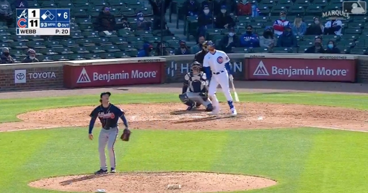 Kris Bryant's second home run on Saturday was the Cubs' sixth long ball of the matchup.