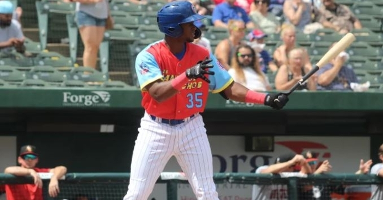 Canario is an elite prospect for ther Cubs (Photo via Casey McDonald)