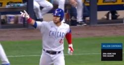 WATCH: Willson Contreras blasts 446-foot homer into upper deck