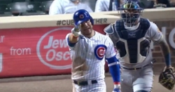 WATCH: Benches clear after Willson Contreras gets hit by pitch