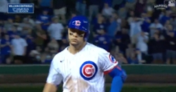 WATCH: Willson Contreras obliterates pitch on 445-foot two-run bomb