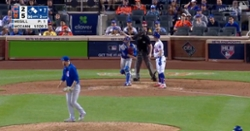 WATCH: Willson Contreras guns down Pete Alonso at first base