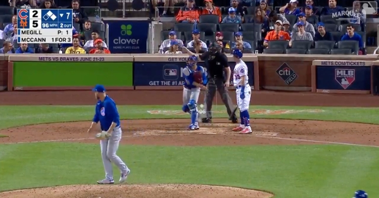 Willson Contreras made Pete Alonso pay for seemingly doubting his arm by picking him off for the final out of the seventh inning.