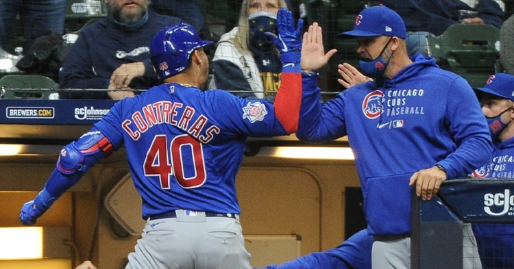 Contreras was excited after his go-ahead homer (Michael McCloone - USA Today Sports)