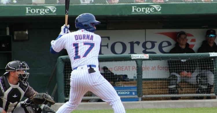 Durna smacked a grand slam in the win (Photo courtesy: South Bend)
