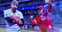 WATCH: Fan admits telling Nicholas Castellanos to picture Rob Manfred's face on ball