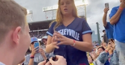 WATCH: Guy proposes to his girlfriend in Wrigley Field bleachers