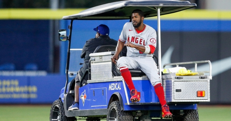 Angels outfielder Dexter Fowler, a former Cub, will miss the rest of the season because of a torn ACL. (Credit: Nathan Ray Seebeck-USA TODAY Sports)
