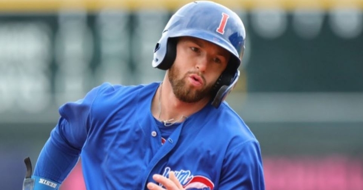 Giambrone had two doubles and a walk in the I-Cubs loss (Photo courtesy: Iowa Cubs)