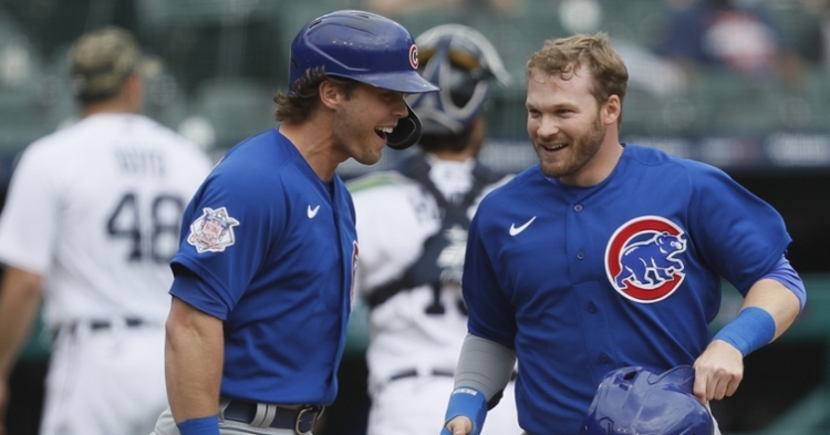 The Cubs were all smile with the win (Raj Mehta - USA Today Sports)
