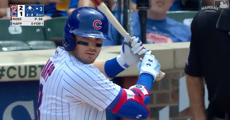 Ian Happ's go-ahead two-run shot in Thursday's tilt left the bat at 99.4 mph and 25 degrees.
