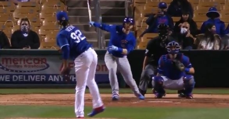 WATCH: Ian Happ smacks homer vs. Dodgers