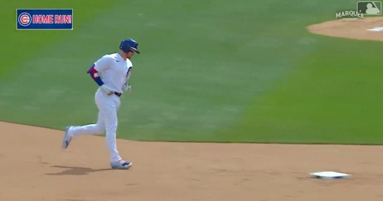 Ian Happ, who now has 11 RBIs to his name, lifted a leadoff jack for his second homer of the day.