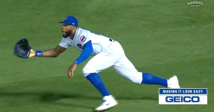 Cubs right fielder Jason Heyward definitely made his superb diving catch look much easier than it was.