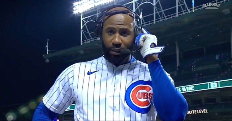 After hitting a walkoff single, Jason Heyward let viewers know how he really felt in his on-field interview.