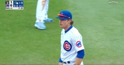 WATCH: Nico Hoerner intentionally lets popup fall as Cubs turn heads-up double play