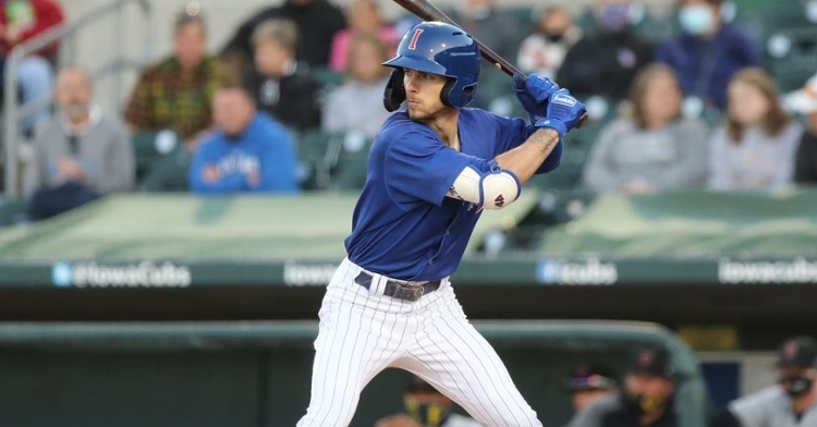 Miller had three hits yesterday (Photo courtesy: Iowa Cubs)