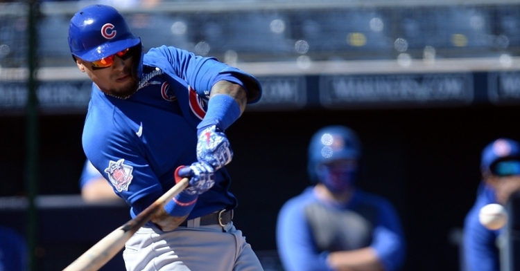 Baez got the first spring hit by the Cubs (Joe Camporeale - USA Today Sports)