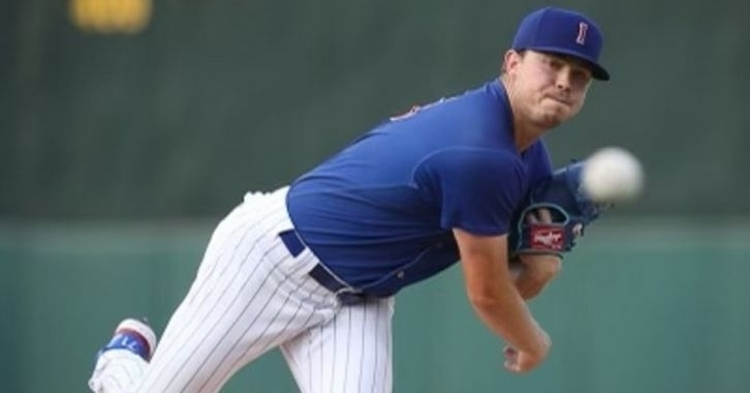 Thompson didn't give up a run in his 3.1 innings of work (Photo via Iowa Cubs)
