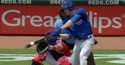 WATCH: Kyle Hendricks smacks two-out RBI single vs. Reds