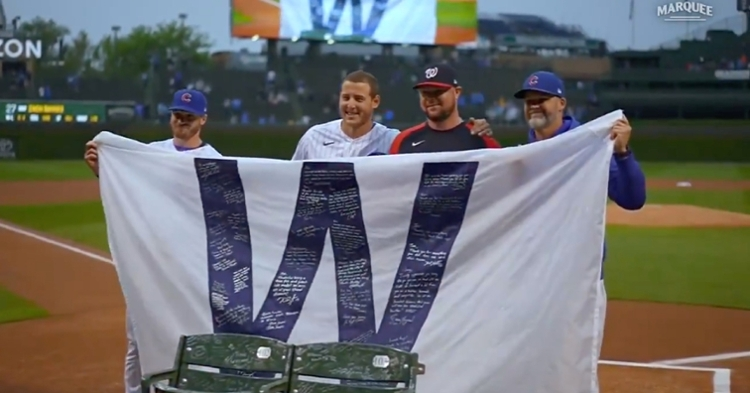 Jon Lester received heartfelt gifts from the Cubs in honor of his decorated tenure with the club.