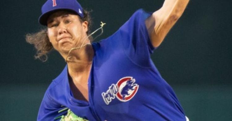 Lugo was impressive in the I-Cubs win (Photo via Iowa Cubs)