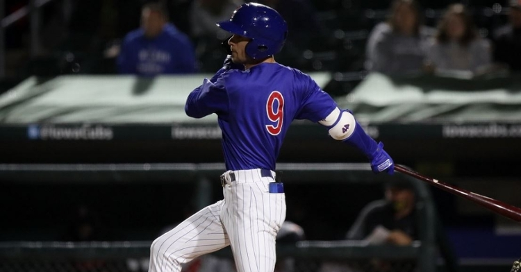 Miller could be an asset with his speed (Photo via Iowa Cubs)