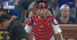 WATCH: Nico Hoerner scores go-ahead run thanks to bad throw by Yadier Molina