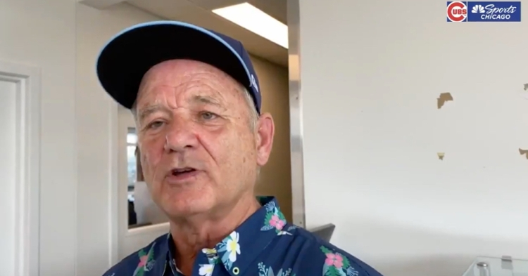 Comedic actor Bill Murray suggested that young Cubs fans should step up and raise money to help the team in free agency.